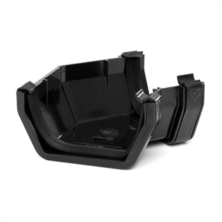 Polypipe Square Rainwater 112mm Gutter 135° Angle Black RS204