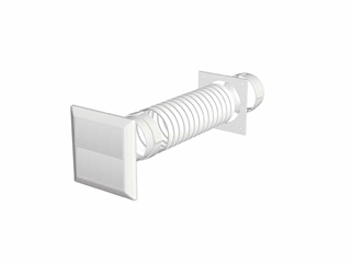 Domus Round Hose Kit with Gravity Flap Outlet