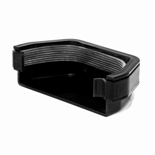Polypipe Square Rainwater 112mm Gutter External Stop End Black RS207