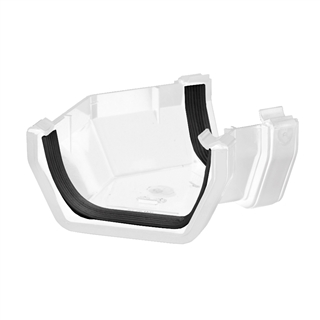 Polypipe Square Rainwater 112mm Gutter 135° Angle White RS204
