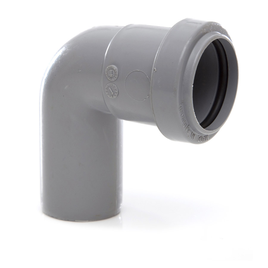 Polypipe Push-Fit Waste 32mm 91¼° Swivel Bend Grey WP23 image 0