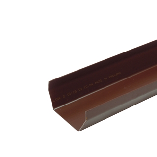 Polypipe Square Rainwater 112mm Gutter 2m Brown RS200