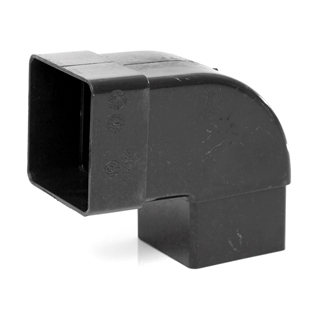 Polypipe Square Rainwater 65mm 92½° Offset Bend Black RS232