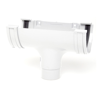 Polypipe Deep Capacity Gutter Running Outlet White RD505