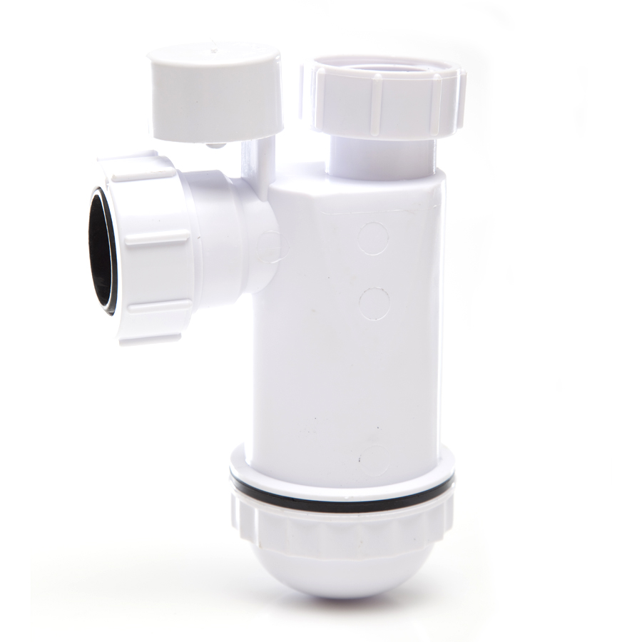 Polypipe Nuflo Anti-Syphon Bottle Trap 32mm WP45PV image 0