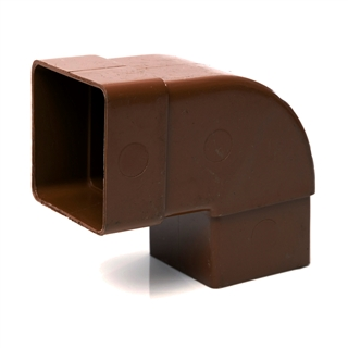 Polypipe Square Rainwater 65mm 92½° Offset Bend Brown RS232