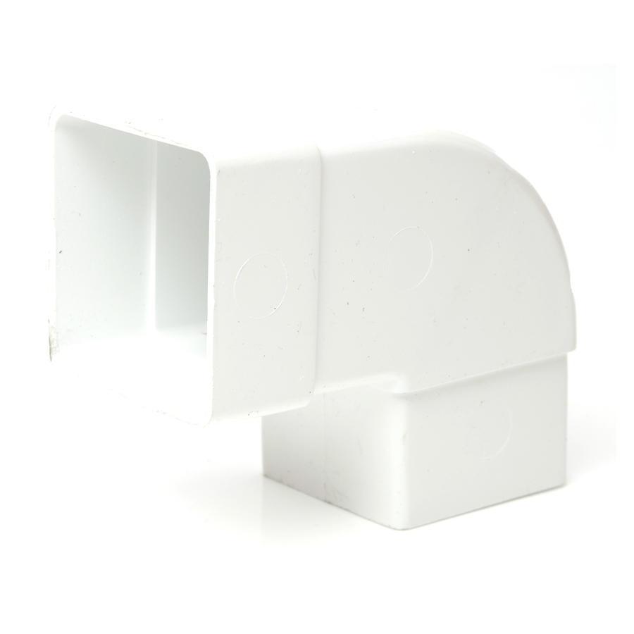 Polypipe Square Rainwater 65mm 92½° Offset Bend White RS232 image 0