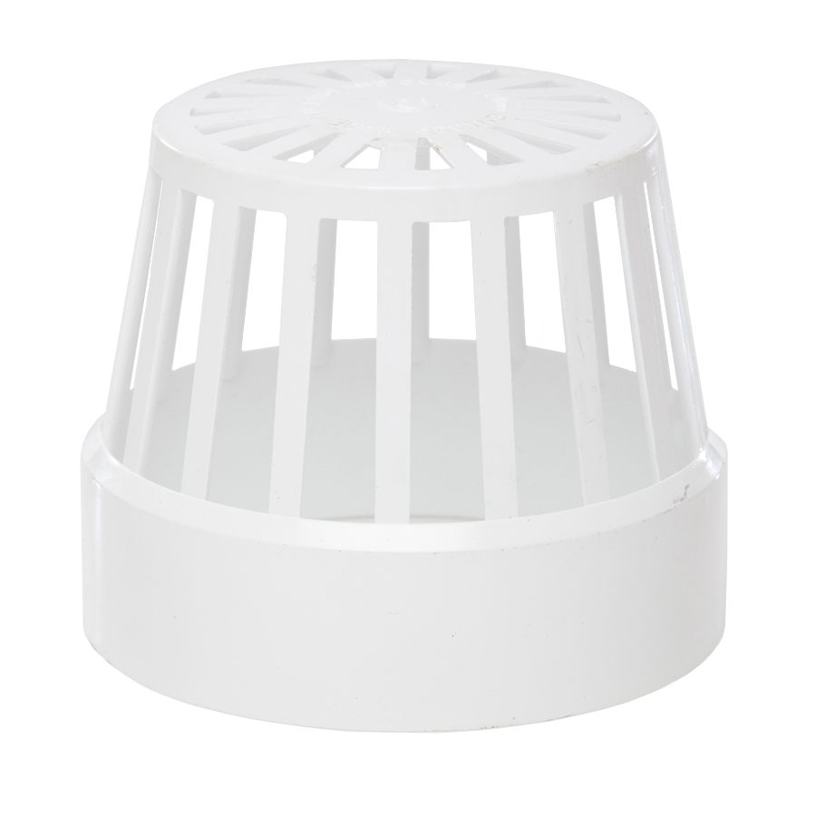 Polypipe Soil & Vent 110mm Vent Terminal (Balloon Guard) White SV42 image 0