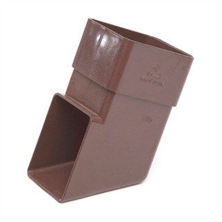 Polypipe Square Rainwater 65mm Downpipe Shoe Brown RS228