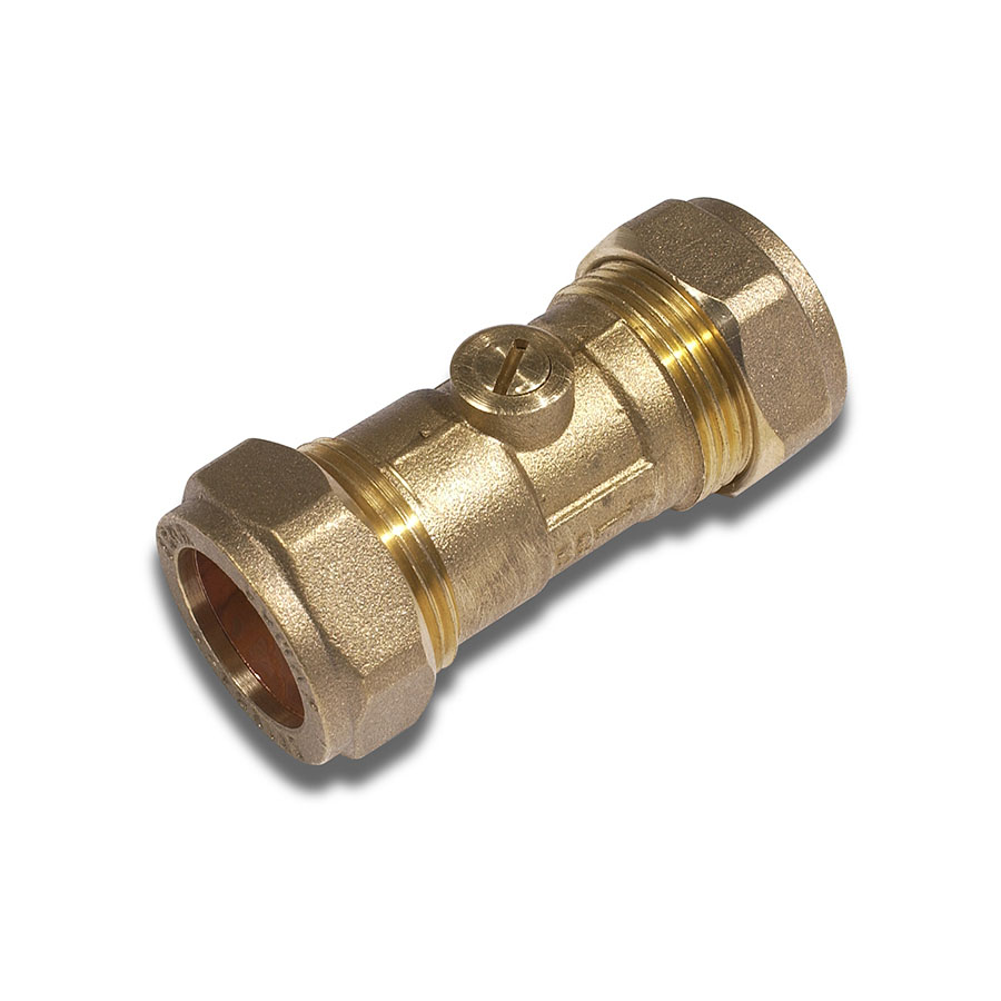 22mm Compression Chrome Plated Isolating Valve image 0