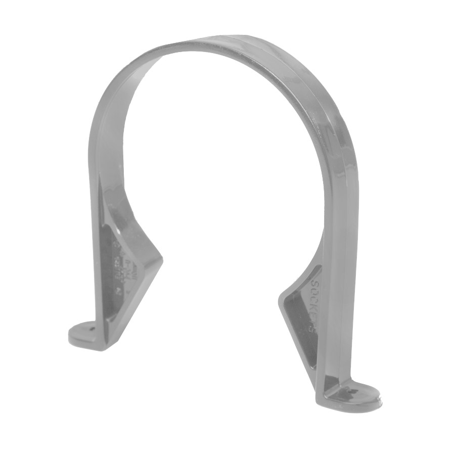 Polypipe Soil & Vent 110mm Pipe Clip (Saddle) Grey SC43 image 0