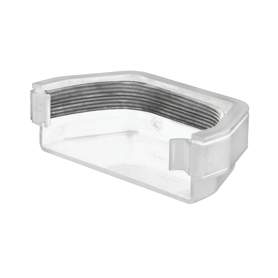 Polypipe Square Rainwater 112mm Gutter External Stop End White RS207 image 0