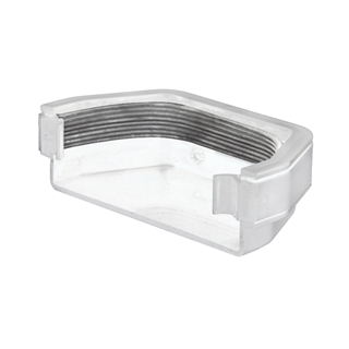 Polypipe Square Rainwater 112mm Gutter External Stop End White RS207