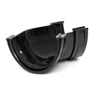 Polypipe Deep Capacity Gutter 135° Angle Black RD504