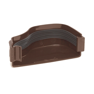 Polypipe Ogee Gutter 130mm x 70mm Stop End External Left Hand Brown ROG07