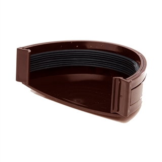 Polypipe Deep Capacity Gutter Stop End External Brown RD507