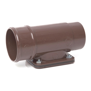 Polypipe Rainwater Round Pipe 68mm Access Pipe Brown RR135