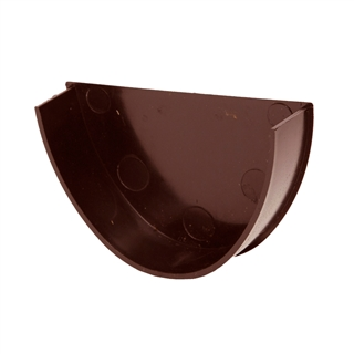 Polypipe Deep Capacity Gutter Stop End Internal Brown RD508