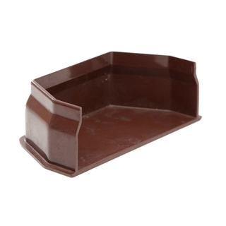 Polypipe Square Rainwater 112mm Gutter Internal Stop End Brown RS208