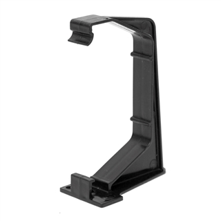 Polypipe Square Rainwater 112mm Gutter Fascia Bracket Black RS209