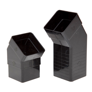 Polypipe Square Rainwater 65mm Adjustable Offset 25mm to 67mm Black RS237