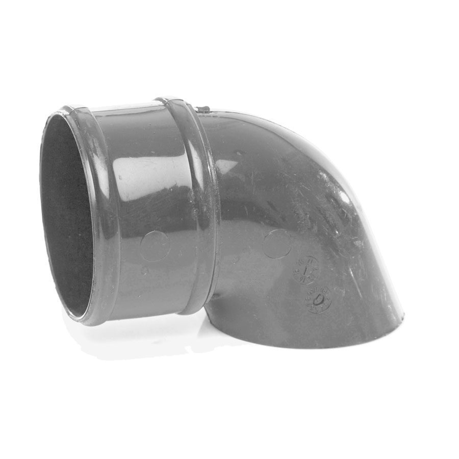 Polypipe Rainwater Round Pipe 68mm Pipe Shoe Grey RR128 image 0
