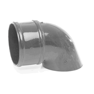 Polypipe Rainwater Round Pipe 68mm Pipe Shoe Grey RR128
