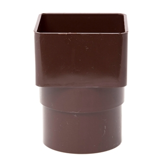 Polypipe Square Rainwater 65mm Square to Round Adapter White RS231