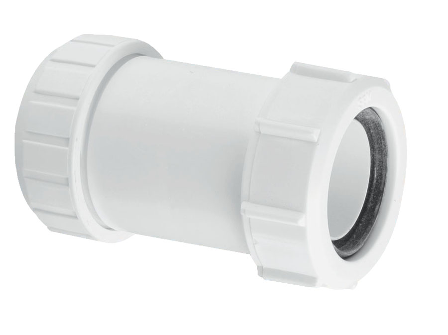 McAlpine 50mm Multifit Fittings Straight Connector White image 0