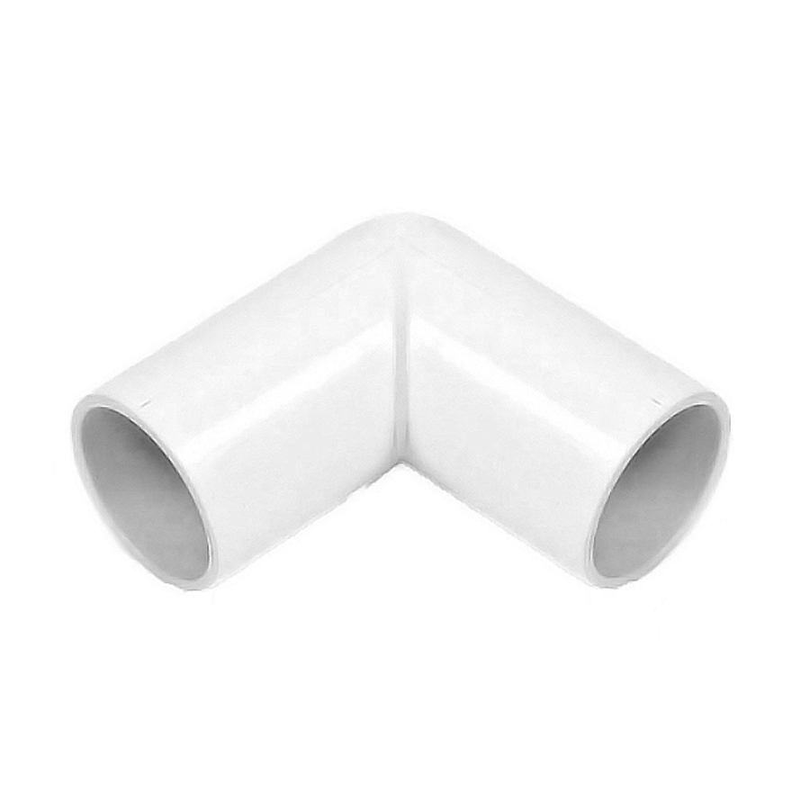 Polypipe Overflow 21.5mm Solvent Weld 90° Knuckle Bend White NS45 image 0