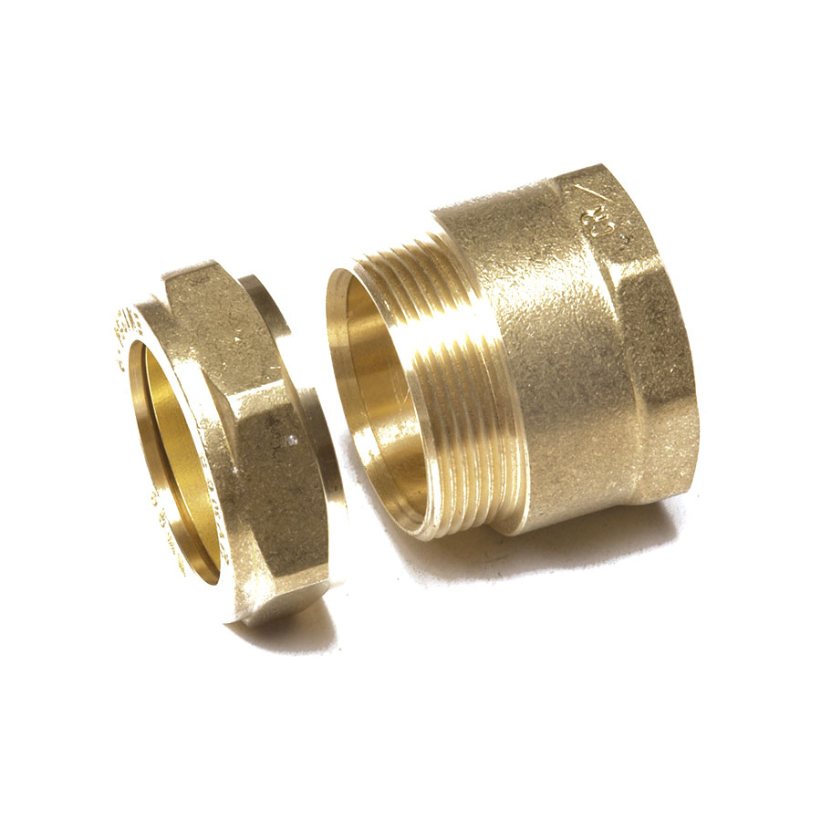 """Compression Fitting DZR FI x C Straight Connector 1"""" x 22mm image 0"""