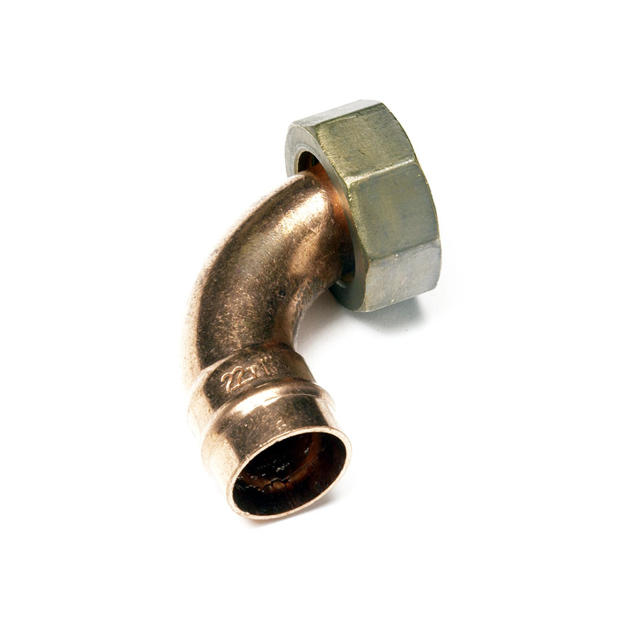 """Solder Ring Fitting Bent Tap Connector 15mm x ½"""" image 0"""