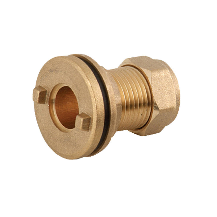 Compression Fitting Straight Tank Connector 22mm image 0