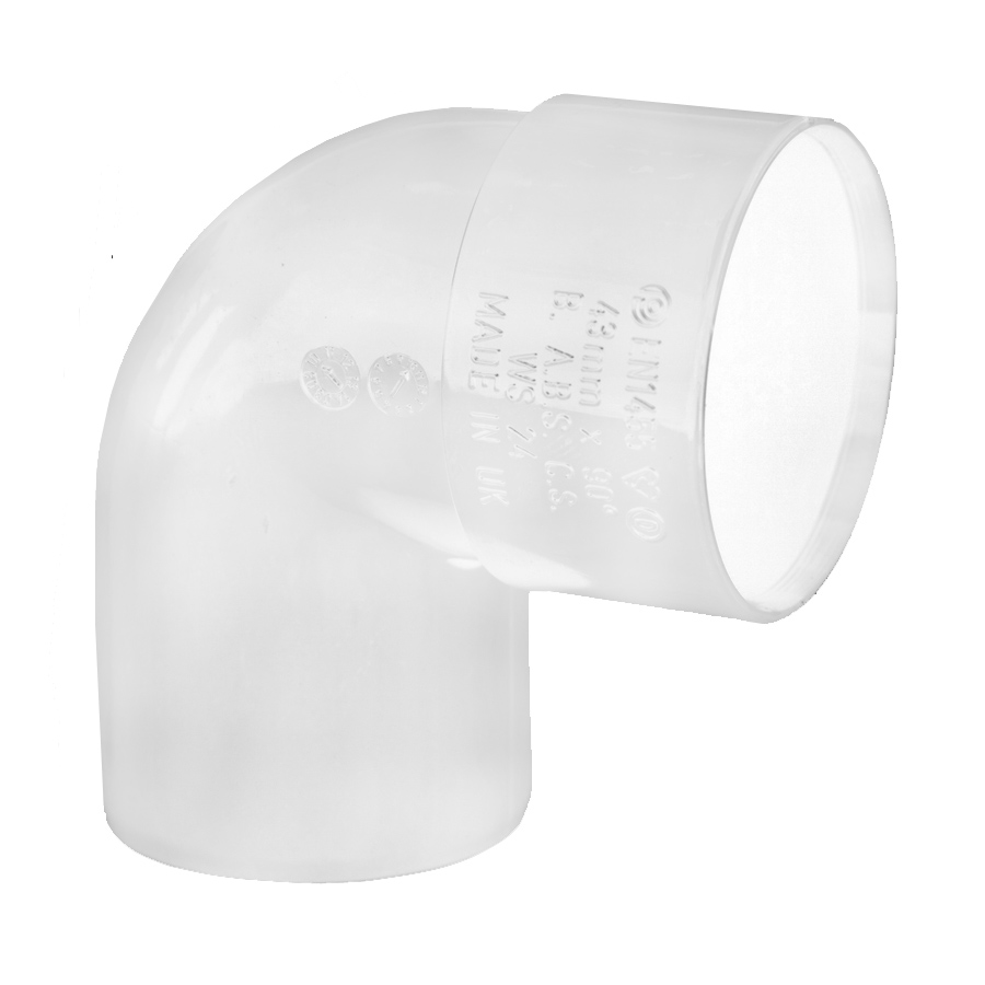 Polypipe Solvent Weld Waste 50mm 92½° Swivel Bend White WS60 image 0