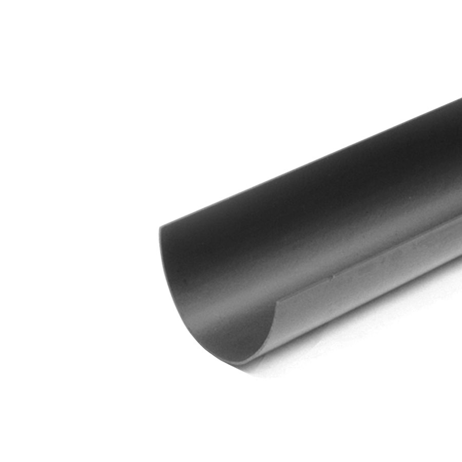 Polypipe Deep Capacity Gutter 117mm x 75mm 4m Gutter Black RD501 image 0