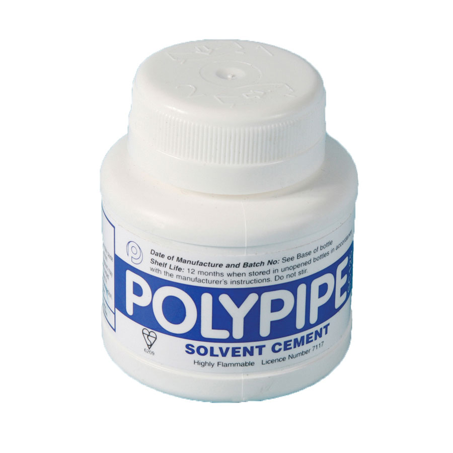Polypipe Solvent Cement with Brush 125ml BS6209 SC125 image 0