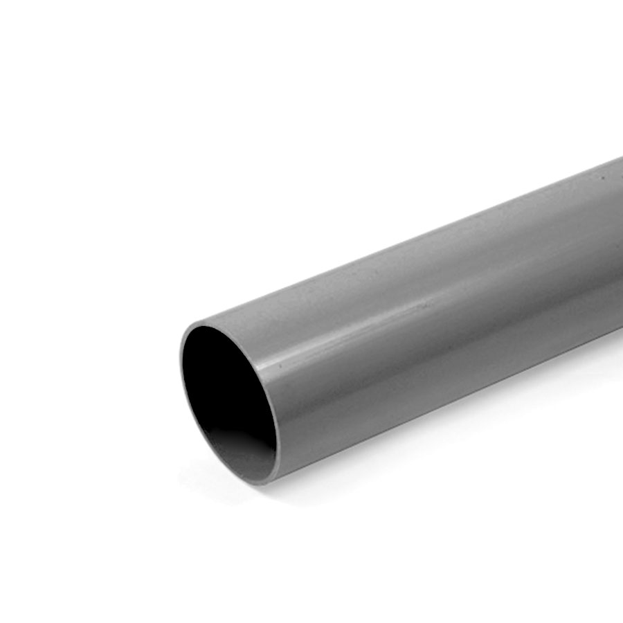 Polypipe Rainwater Round Pipe 68mm 2.5m Grey RR121 image 0