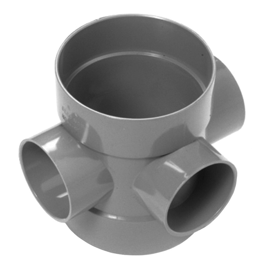 Polypipe Soil & Vent 110mm Double Socket Short Boss Pipe Grey SE60 image 0