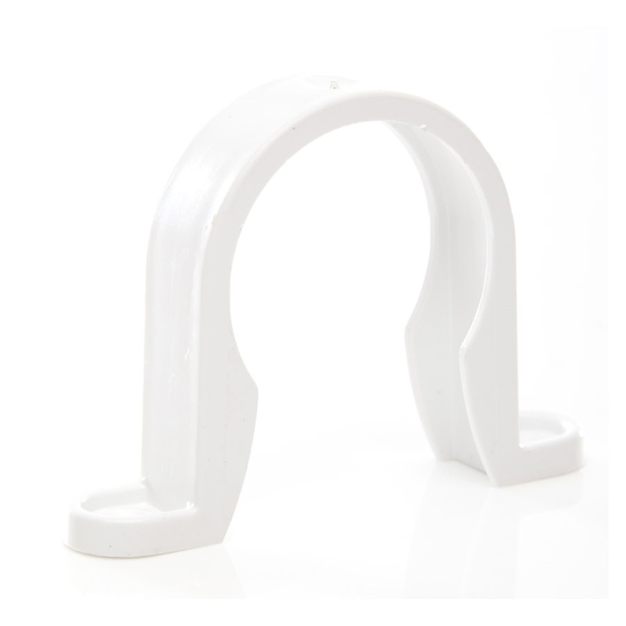 Polypipe Solvent Weld Waste 40mm Pipe Clip White WS34 image 0