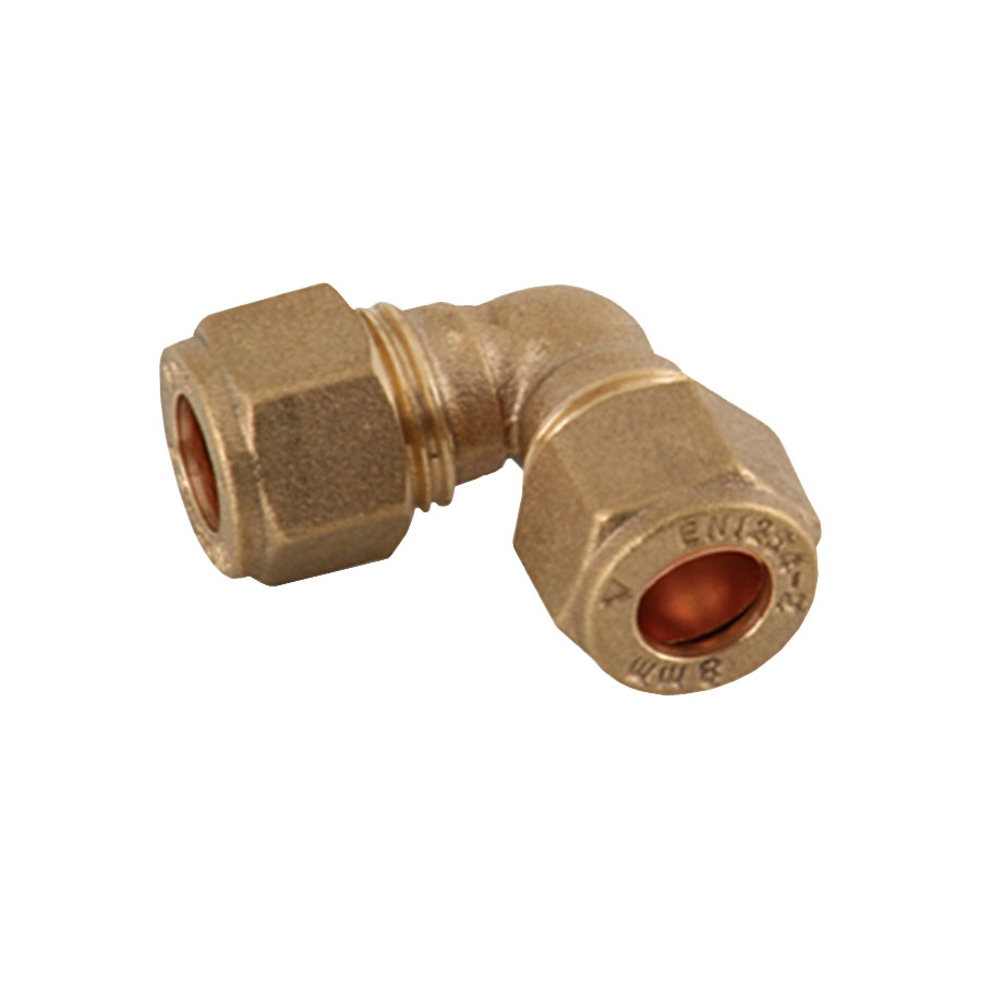 Compression Fitting Elbow 22mm image 0