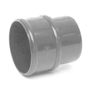 Polypipe Rainwater Round Pipe 68mm Pipe Connector Grey RR125