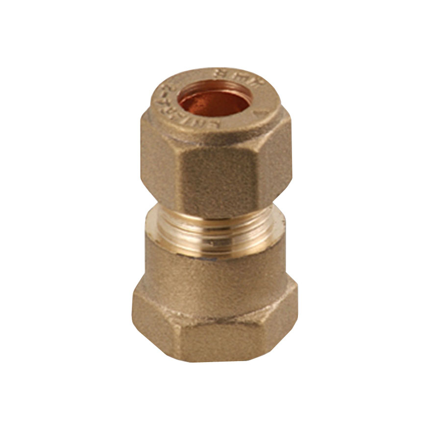 """Compression Fitting MI x C Straight Connector ½"""" x 15mm image 0"""