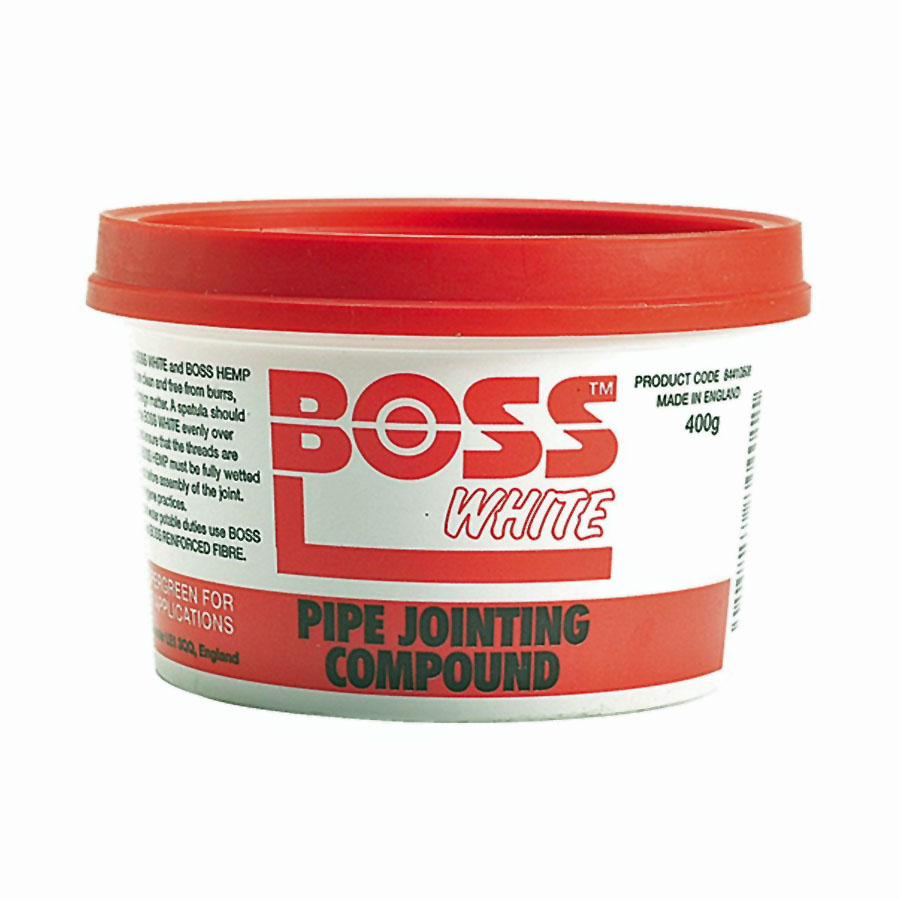 Boss White Pipe Jointing Compound 400g image 0