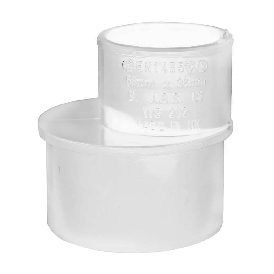 Polypipe Solvent Weld Waste 50mm x 32mm Reducer White WS202 image 0