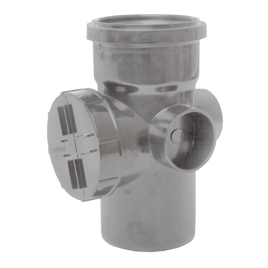 Polypipe Soil & Vent 110mm Single Socket Access Pipe Grey SA43 image 0