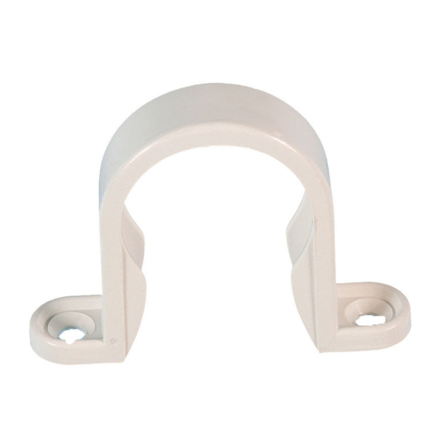 Polypipe Solvent Weld Waste 50mm Pipe Clip White WS65 image 0