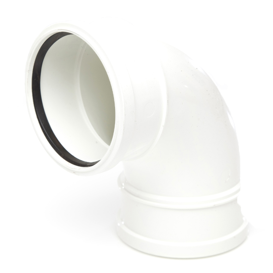 Polypipe Soil & Vent 110mm 92½° Double Socket Bend White SB417 image 0