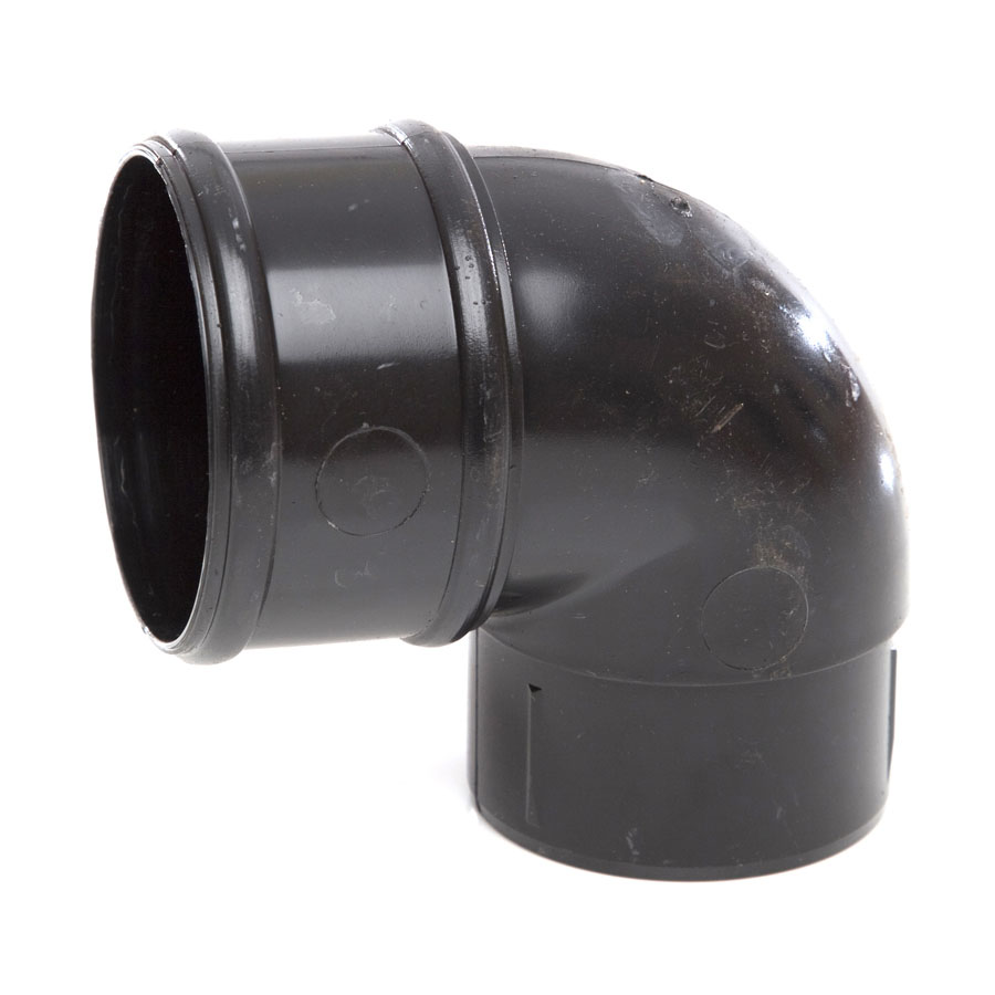 Polypipe Rainwater Round Pipe 68mm 92½° Bends White RR132 image 0