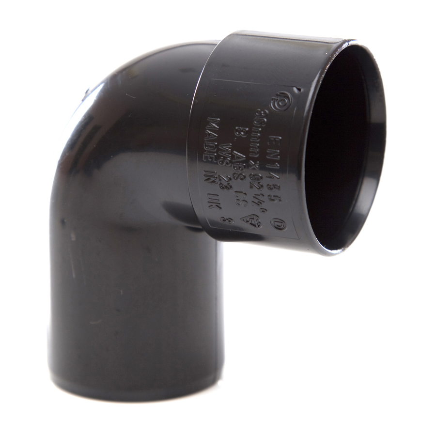 Polypipe Solvent Weld Waste 32mm 92½° Swivel Bend Black WS23 image 0