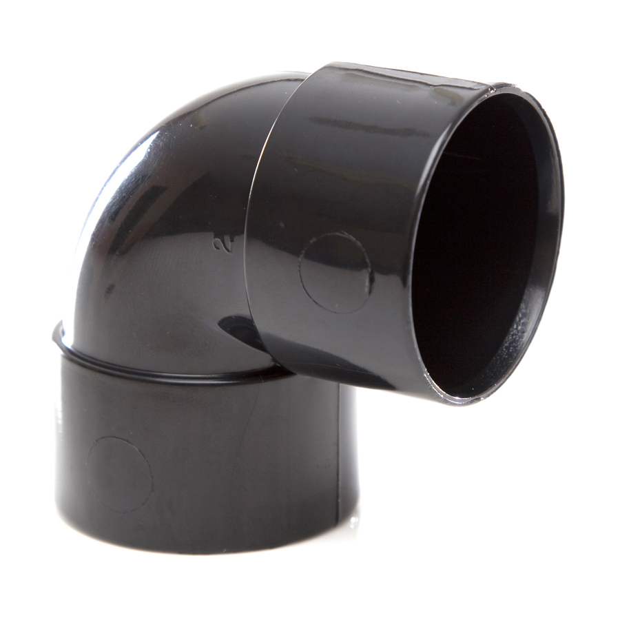 Polypipe Solvent Weld Waste 32mm 90° Knuckle Bend Black WS15 image 0